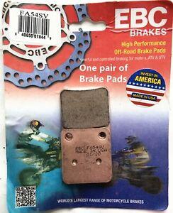 2x Font Left Brake Pads for 97-02 Kawasaki KVF400 00-12 YAMAHA YFM400 EBC-FA54SV
