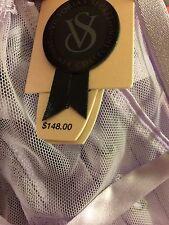 Victoria's Secret Designer Lace Ribbon Boned Peplum Corset Bustier 36C