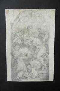 ITALIAN-BOLOGNESE SCHOOL 18thC - RELIGIOUS SCENE ATTR. GRAZIANI - CHARCOAL