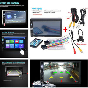 2 din HD Rear View Car Radio Bluetooth FM MP5 Player Digital Touch Screen Handy