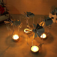 Romantic Rotary Spinning Carousel Tea Light Christmas Gift Candle Holder Decor