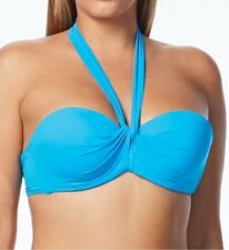 NEW Coco Reef Sea Blue Solid Convertible  Bikini Swim Top 36/38 D NSTRP