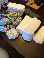 Lot Of 32 Cloth Diapers 30 Alva Baby 2 Thirsties Total Of 113 Pieces