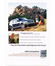 1999 Ford EXPEDITION Wedgewood Blue Truck Vtg Print Ad