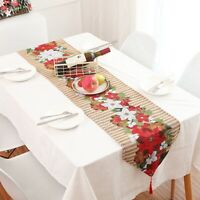 Fine Christmas Xmas Party Table Runner Wrap Décor Tassel Tablecloth LP