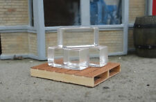 Block Ice Miniatures (3) w Premium Pallet for Display (not real) 1/24 Scale G