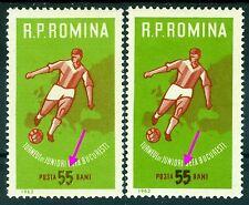 1962 Football,UEFA European Junior Champs,Fußball,Calcio,Romania,2043,ERROR,MNH