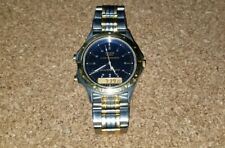 Pulsar V041-9100 Men's Watch Analog Digital Two-Tone Blue Dial 40mm Case