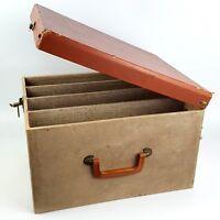 Vintage 35mm Slide Magazine Storage Case Box Photo Projector Holds 24 Boxes