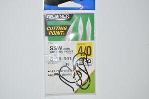 owner ssw all purpose bait hook size 4/0 black chrome finish 5111-141