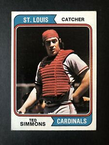 1974 Topps #260 Ted Simmons St. Louis Cardinals Baseball Card