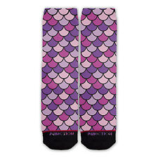 Function - Mermaid Scales Purple Fashion Socks nautical ocean mythical girly odd