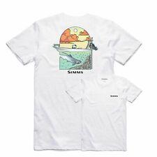 SALE Simms Underwood Ocean T-Shirt White XXL NEW FREE SHIPPING