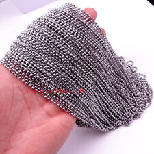 Lot 100pcs Thin Beads Chain Stainless Steel Jewelry Marking Necklace 1.5mm 18''