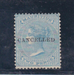 mauritius 1863/72,SG 59,Sc 33 wmk CC,optd CANCELLED ,  s639