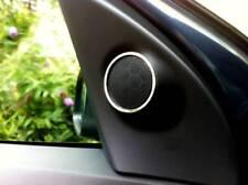 D Opel Astra H anillos de cromo para pequeños türlautsprecher arriba-acero inoxidable pulido