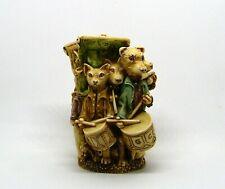 "Harmony Kingdom ""Lord of the Aisles"" Dog Cat Drummers Figurine Box ~ England"