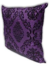 Purple Home Decorate Room Sofa Flock Print Cushion Cover Pillow Case 43cm x 43cm
