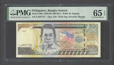 Philippines  500 Piso 2008 P196b Uncirculated Grade 65