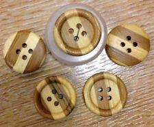Tono Madera Real 2 Botones De Color 20mm de madera plana espaldas Stripey John Lewis x5 PAC