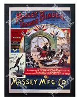 Historic Masseys Toronto Binder, c 1890 Advertising Postcard