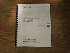 Sony RHT-S10 theatre system operating instructions user manual