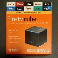 Amazon Fire TV Cube 4K UHD 2nd Gen Media Player w/ Alexa Voice Remote 16GB Black