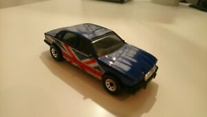 Matchbox Jaguar XJ XJ6 Small Scale Model Car ~ Dark Blue with Union Jack