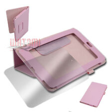"CASE COVER+SCREEN PROTECTOR POUCH PU LEATHER PINK GOOGLE ASUS NEXUS 7"" TABLET"