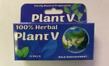 PLANT V 100% HERBAL MALE SEXUAL ENHANCEMENT SUPPLEMENT 4 PILLS PER BOX