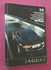 JAGUAR XK COUPE & JAGUAR XK CONVERTIBLE (2009 - 2011) OWNERS MANUAL - HANDBOOK.