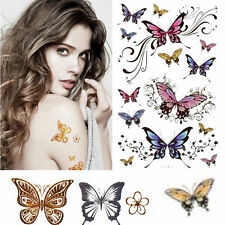 Design Flash Tattoo Removable Waterproof Butterfly Stickers Body Art Tatoo Pop