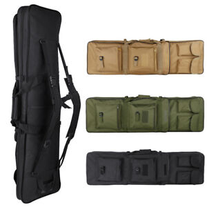 """39""""Tactical Double Dual Carbine Rifle Range Gun Padded Case Bag Hunting Backpack"""