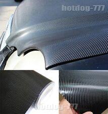 "12"" x 60"" - Real 4D Carbon Fiber Vinyl Wrap Film Sticker Sheet Black Decal AC AC"