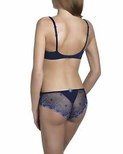 Simone Perele DELICE 16C /38C Navy / Light blue Full Cup Bra Sz 4 Shorty Rp$165