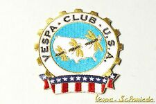 """Aufnäher """"Vespa Club USA"""" - Klub America Amerika US V50 PK PX GL Piaggio Patch"""