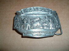 Kansas Mexican / American Commerorative Belt Buckle 1985 no 60 of 1000