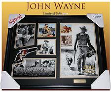 NEW!!! JOHN WAYNE MEMORABILIA SIGNED FRAME,  LIMITED EDITION 499 w/ CERTIFICATE