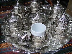 Vintage Handmade Copper Turkish Coffee&Espresso Serving Set:OTTOMAN STYLE