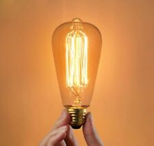 E27 60W Incandescent Bulb 220V ST64 Retro Edison Light
