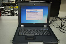 """HP TFT7600 17"""" KVM Rackmount LCD Monitor P/N:AG066A w/ Rack Mounts & Cables"""