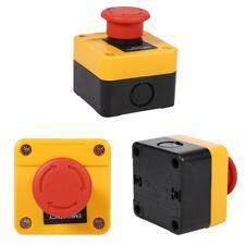 10A 660V Pulsante Emergenza Ferma Stop Fungo 1NO+1NC Arresto Officina Garage Red