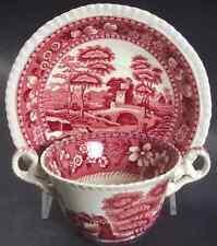 Spode TOWER PINK Bouillon Cup & Saucer 1927094
