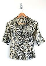 Guess Animal Print Satin Shirt Preloved - Size XS