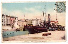 CPA 34 - SETE - CETTE (Hérault) - 10. Chargement d'un vapeur