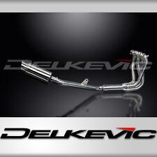 """Honda CB1100 X11 Complete 4-1 Exhaust 8"""" Stainless Round Muffler 99 00 01 02 03"""