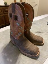 Double H Burnt Orange Wide Square Steel Toe Work Boots 7.5 Size