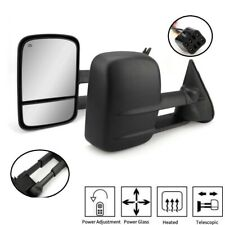 Pair Power Heated Truck Tow Mirrors Side View for Chevy GMC 1500 2500 3500 99-02