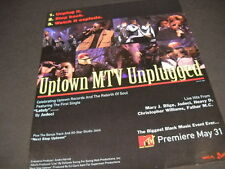 JODECI Heavy D MARY J. BLIGE others MTV Unplugged PROMO POSTER AD mint condition