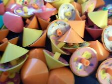 Novelty Gag Gifts Chickie Themed Spin Tops Birthday New Lot of 10 Boys/Girls Fun